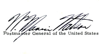 Autographs: WILLIAM MARVIN WATSON - SIGNATURE(S)