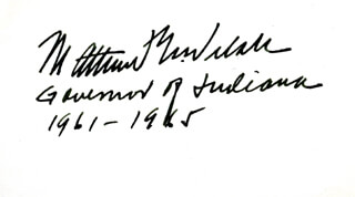 GOVERNOR MATTHEW E. WELSH - AUTOGRAPH