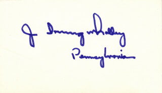 JOHN IRVING WHALLEY - AUTOGRAPH