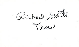 RICHARD CRAWFORD WHITE - AUTOGRAPH