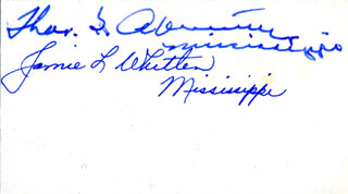 Autographs: JAMIE L. WHITTEN - SIGNATURE(S) CO-SIGNED BY: THOMAS G. ABERNETHY