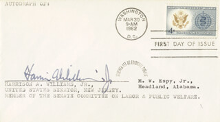 Autographs: HARRISON ARLINGTON PETE WILLIAMS JR. - FIRST DAY COVER SIGNED