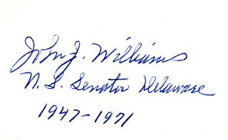 JOHN JAMES WILLIAMS - AUTOGRAPH