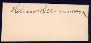 WILLIAM WILLIAMSON - CLIPPED SIGNATURE