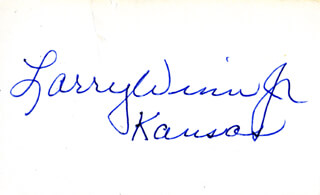 EDWARD LAWRENCE LARRY WINN JR. - AUTOGRAPH