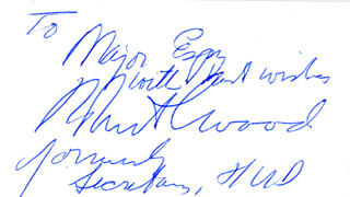 Autographs: ROBERT COLDWELL WOOD - AUTOGRAPH NOTE SIGNED