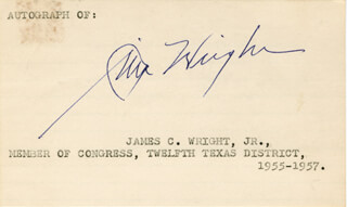 JAMES C. WRIGHT JR. - AUTOGRAPH
