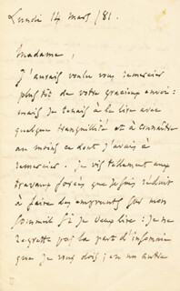CHARLES GOUNOD - AUTOGRAPH LETTER SIGNED 03/14/1881