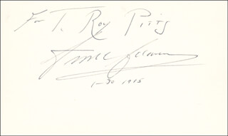 Autographs: ANSEL ADAMS - INSCRIBED SIGNATURE 01/30/1965