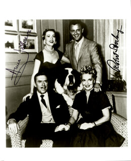 TOPPER TV CAST - AUTOGRAPHED INSCRIBED PHOTOGRAPH CO-SIGNED BY: ROBERT STERLING, ANNE JEFFREYS