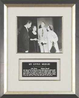 MY LITTLE MARGIE TV CAST - AUTOGRAPHED SIGNED PHOTOGRAPH CO-SIGNED BY: CHARLES FARRELL, GALE STORM