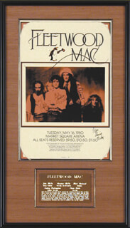 FLEETWOOD MAC - AUTOGRAPHED SIGNED POSTER 05/16/1980 CO-SIGNED BY: STEVIE NICKS, MICK FLEETWOOD, CHRISTINE McVIE, LINDSEY BUCKINGHAM, JOHN McVIE