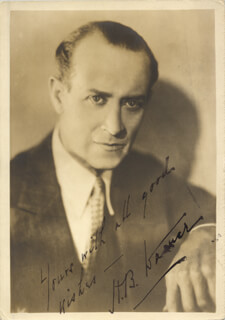 HENRY BYRON H. B. WARNER - AUTOGRAPHED SIGNED PHOTOGRAPH