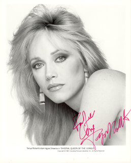 TANYA ROBERTS - AUTOGRAPHED INSCRIBED PHOTOGRAPH