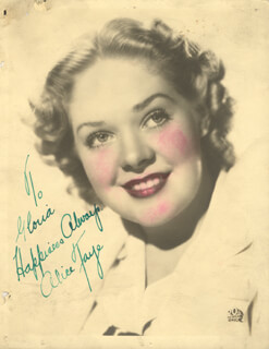 ALICE FAYE - AUTOGRAPHED INSCRIBED PHOTOGRAPH