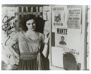 JANE RUSSELL - AUTOGRAPHED SIGNED PHOTOGRAPH