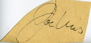 JOE THE BROWN BOMBER LOUIS - CLIPPED SIGNATURE
