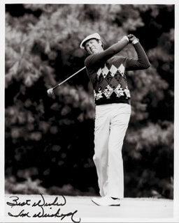TOM WEISKOPF - AUTOGRAPHED SIGNED PHOTOGRAPH
