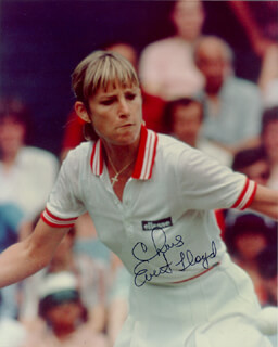 CHRIS EVERT - AUTOGRAPHED SIGNED PHOTOGRAPH