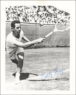 BOBBY RIGGS - AUTOGRAPHED SIGNED PHOTOGRAPH