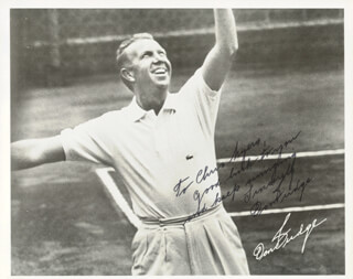 Autographs: DON BUDGE - INSCRIBED PHOTOGRAPH SIGNED