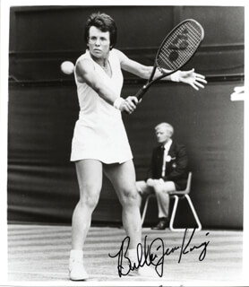 BILLIE JEAN KING - AUTOGRAPHED SIGNED PHOTOGRAPH