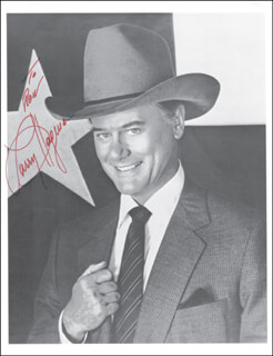 LARRY HAGMAN - AUTOGRAPHED INSCRIBED PHOTOGRAPH