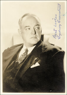 SYDNEY GREENSTREET - AUTOGRAPHED SIGNED PHOTOGRAPH
