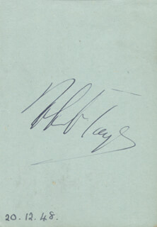 ROBERT TAYLOR - AUTOGRAPH CIRCA 1948 CO-SIGNED BY: JOAN CAULFIELD