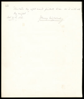 HENRY M. STANLEY - AUTOGRAPH QUOTATION SIGNED 10/31/1886 CO-SIGNED BY: TITO MATTEI, J.B. POZNANSKI, FRANK BARRINGTON FOOTE, FREDERICK BEVAN, SIDNEY TOWER, JANET MONACH PATEY, MARY (MAIR MYNORYDD) DAVIES
