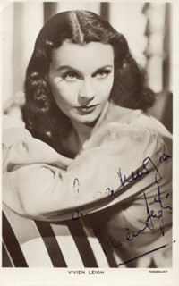 VIVIEN LEIGH - PHOTOGRAPH SIGNED TWICE