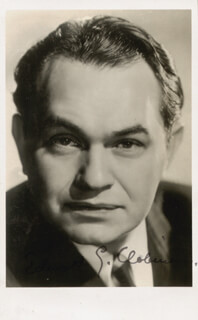EDWARD G. ROBINSON - PICTURE POST CARD SIGNED