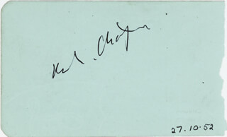 Autographs: CHARLIE THE LITTLE TRAMP CHAPLIN - SIGNATURE(S) CO-SIGNED BY: ANNE CRAWFORD
