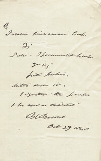 Autographs: SIR BENJAMIN C. BRODIE - AUTOGRAPH DOCUMENT SIGNED 10/27/1847