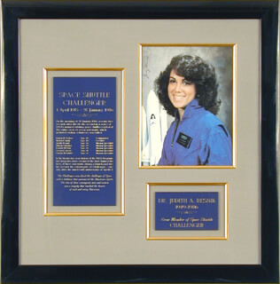 JUDITH A. JUDY RESNIK - AUTOGRAPHED SIGNED PHOTOGRAPH