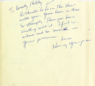 HENNY YOUNGMAN - AUTOGRAPH NOTE SIGNED