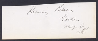 HENRY BACON - CLIPPED SIGNATURE