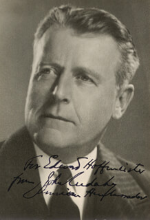 JOHN CUDAHY - AUTOGRAPHED INSCRIBED PHOTOGRAPH