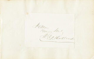 JOSIAH GILBERT HOLLAND - AUTOGRAPH SENTIMENT SIGNED