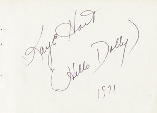 KAYE HART - INSCRIBED SIGNATURE 1971