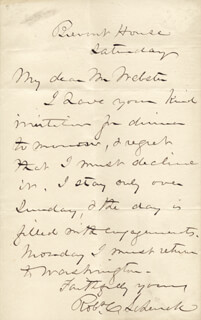 MAJOR GENERAL ROBERT C. SCHENCK - AUTOGRAPH LETTER SIGNED