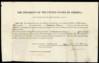 PRESIDENT JAMES MADISON - MILITARY APPOINTMENT SIGNED 02/01/1813 CO-SIGNED BY: BRIGADIER GENERAL JOHN ARMSTRONG JR.
