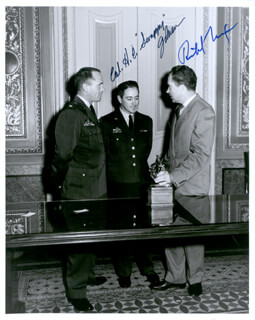 PRESIDENT RICHARD M. NIXON - AUTOGRAPHED SIGNED PHOTOGRAPH CIRCA 1959 CO-SIGNED BY: COLONEL HOWARD C. SCRAPPY JOHNSON
