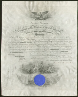 PRESIDENT THEODORE ROOSEVELT - NAVAL APPOINTMENT SIGNED 01/20/1902 CO-SIGNED BY: JOHN D. LONG