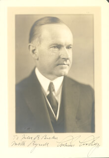PRESIDENT CALVIN COOLIDGE - AUTOGRAPHED INSCRIBED PHOTOGRAPH