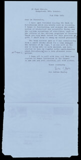 SIR JULIAN S. HUXLEY - TYPED LETTER SIGNED 02/17/1973