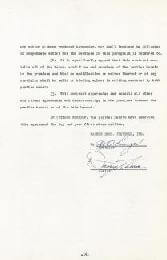 DANNY THOMAS - CONTRACT SIGNED 12/15/1951