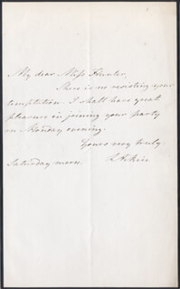 LUCY AIKIN - AUTOGRAPH LETTER SIGNED