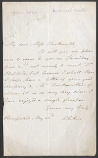 LUCY AIKIN - AUTOGRAPH LETTER SIGNED 5/23