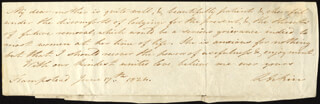 LUCY AIKIN - AUTOGRAPH NOTE SIGNED 06/17/1824